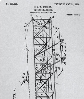 A drawing of air plane blueprints